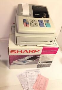 Sharp Electronic Cash Register Model Xe a102 With Receipt Tape Rolls