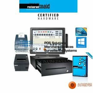 Pos Restaurant Bakery Bar Complete Pos System Station Win 1 Pos W kitchen Printe