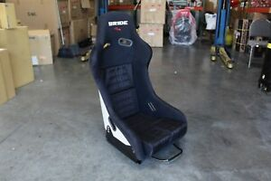 Bride Style Vs3 Fixed Back Full Racing Bucket Seat Black Sparkle Frp Shell