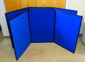 Lot Of 2 Quartet Show it 3 Panel Display System 72 X 36 Blue Surface