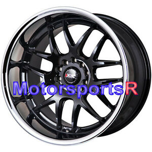 Xxr 526 18 Black Deep Lip Staggered Rims Wheels 5x114 3 5x4 5 5x120 Stance P G35