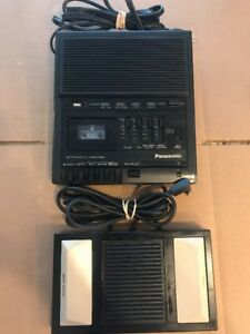 Panasonic Rr 930 Microcassette Transcriber Recorder Player Pedal Rp 2692 Used