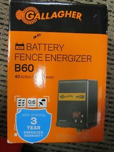 Gallagher 12v Battery Fence Energizer B60 40 Acres Brand New