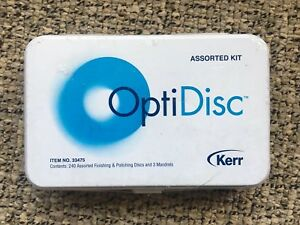 Optidisc Kerr Dental Composite Polishing Finishing Disc Set Brand New In Box