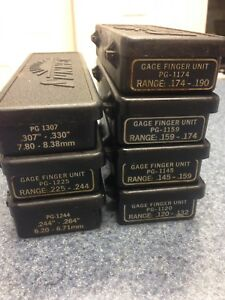 Lot Of 7 Sunnen Pg Bore Gage Finger Units See Photos For Sizes