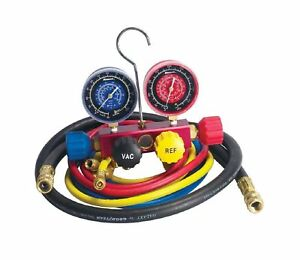 Robinair 42266 Aluminum 4 way Manifold Gauge Set With Hoses For R 12 R 22 A