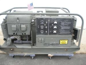 Mep 018a 10kw Military Generator 17 Hours On It 4a084 Iii Engine