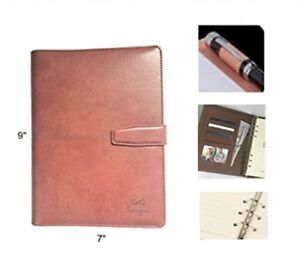 Classic Refillable Leather Journal Academic Monthly Weekly 2018 2019 Planner