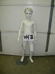 Chalk White Fiberglass Child Mannequin With Base Wk 8