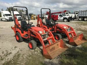 2012 Kubota Bx25 Utility Tractor 4x4 Loader Backhoe Only 900 Hours