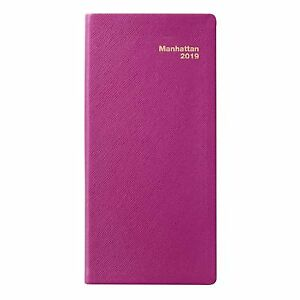 2019 Manhattan Pocket Diary Simulated Leather Honeysuckle Planners Organizers