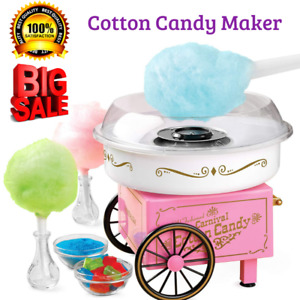 Cotton Candy Maker Electric Commercial Sugar free Retro Machine Kit Gift Pink