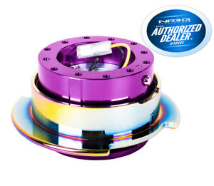 Nrg Steering Wheel Quick Release Gen 2 5 Purple Body Neochrome Ring Srk 250pp Mc