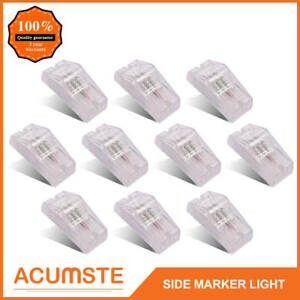 10x 6 18 Led Trailer Freightliner Reflector Turn Marker Clearance Lights White
