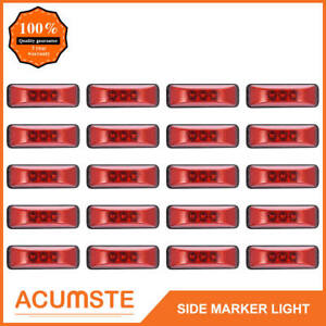 20 X 3 9 trailer Boat Side Marker Clearance Light 3led Id Sealed Rectangle Amber