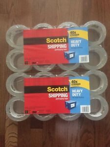 Scotch Heavy Duty Packaging Tape 16 pack brand New And Sealed