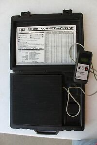 Cps Model Cc 100 Compute A Charge Refrigerant Scale Hvac Pressure Temperature