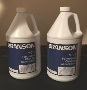 Two Branson Mc Formulated Cleaning Concentrate 1 Gallon