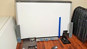 Smart Sbx885 Interactive White Board With Smart Ux80 Projector Accessories
