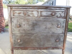 Metal Steel Antique Dresser