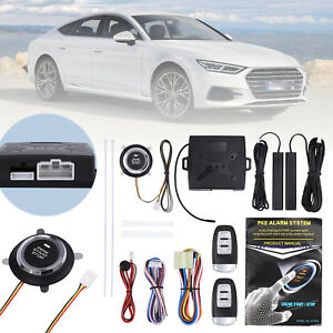 New Car Safety Alarm Start System Keyless Entry Push Button Remote Starter Kit