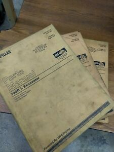 Caterpillar 330b L Excavator Parts Manual 3 Volume Set
