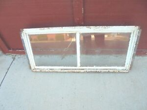 Vintage 2 Pane Metal Framed Pull Out Basement Window For Opening 32 1 2 X 14