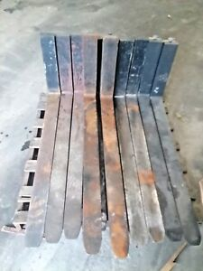 Qty Of 10 Sets Class Ii 16 42 Forklift Forks Tines 4 Wide