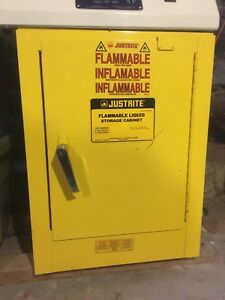 Great Condition Justrite Flammables Cabinet 4 Gal