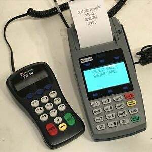 First Data Fd 50 Card Scanner Fd 10 Debit Terminal Pin Pad