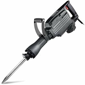 Neiko 02845a Electric Demolition Jack Hammer With Point And Flat Chisel Bits