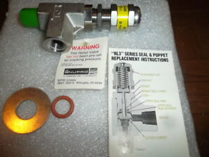 Nupro Ss rl 3m4 f4 Low Pressure Relief Valve new In Box