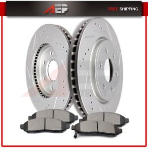 Front Brake Discs Rotors Ceramic Pads For Frontier Pathfinder Xterra Equator