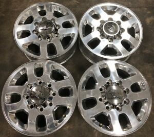 Set 4 18 Chrome 8 Lug Wheels For Chevy Silverado 2500 Oem