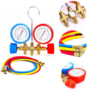 Manifold Gauge Hose Air Conditioner Refrigerant Maintenance R134a R12 R22 R502