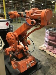 Abb Irb 2400 10 Robot And Non working Controller Parts Only