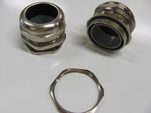 Cable Gland Pg48 Strain Relief New Up To 1 7 Cable Nickel plate Brass