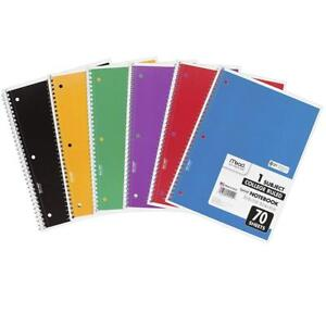 Mead Spiral Notebooks 1 Subject College Ruled Paper 70 Sheets 10 1 2 X