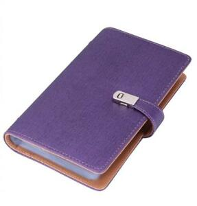 Name Card Book Holder Business Organizer For 240 Cards purple