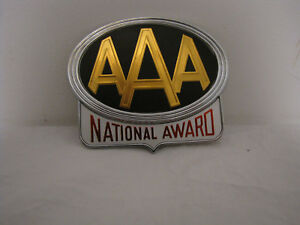 Vintage Nos Aaa National Award License Plate Topper Accessory Badge Emblem Auto
