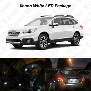 14 X White Led Interior Bulbs Reverse Tag Lights For 2010 2017 2018 Outback