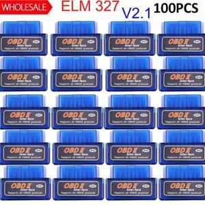 Lot Elm327 V2 1 Obd2 Ii Bluetooth Diagnostic Car Auto Interface Scanner Mini Ej