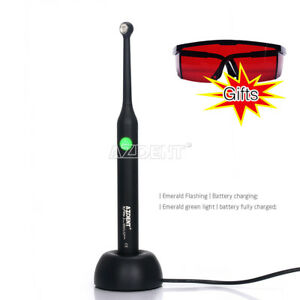 Dental Curing Light High Power Wide Spectrum Broad Led 2300mw cm X2 Glasses