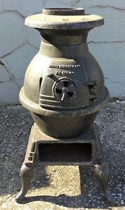 Vintage Antique Pot Belly Stove Sears Roebuck Cast Iron Wood Coal No 119 59