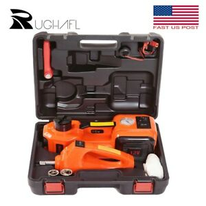5t 12v 3 In 1 Car Electric Hydraulic Floor Jack Lift With Impact Wrench Air Pump