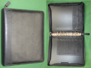 Classic 1 5 Black Top Grain Leather Franklin Covey Quest Planner Binder 5852