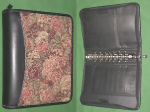Classic 1 5 Floral Tapestry Full Grain Leather Franklin Covey Planner Binder