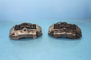 2008 Porsche Cayenne S 4 8l 4 Front Left And Right Brake Calipers Pair Oem