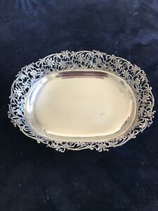 Sterling Silver Serving Tray Or Bowl Large