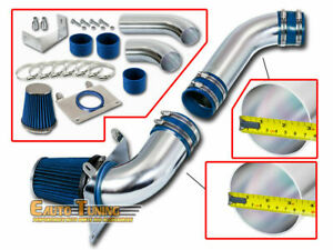 Cold Air Intake Kit Blue Filter For 87 88 Ford Mustang Gt Lx 5 0l V8